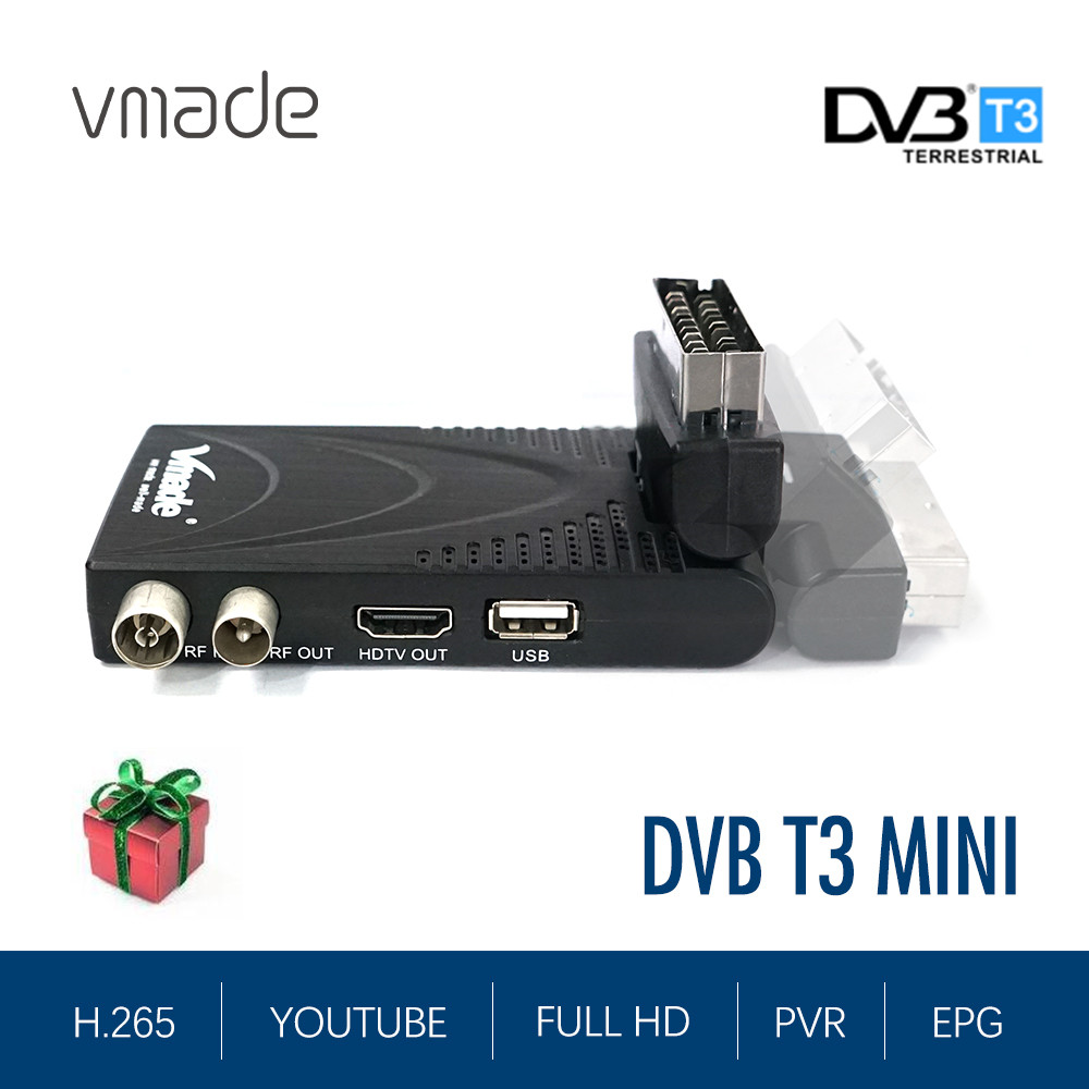 DVB T2 T3 Decoder Support YouTube HD 1080p DVB-T2 HEVC H.265 Digital TV Receiver Dolby AC3 Dvb T2 Set Top Box In Czech Republic