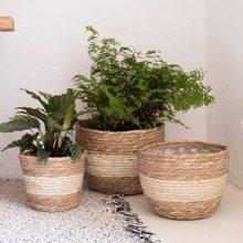Vaso de flores interior e exterior cobrir recipiente vaso de flores cor natural potes para plantas planta pote suporte vasos para plantas vasos de plantas