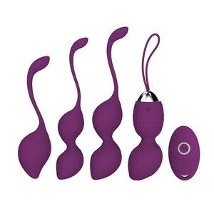 Sexo adulto brinquedo sex shop feminino pós-parto recuperação kegel bolas conjunto clímax vagina bolas vibradores