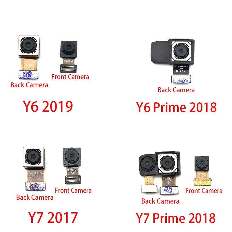 Front Small Facing Camera + Rear Big Main Camera Module Flex Cable For Huawei Y6 Prime Y7 Pro Y9 2018 2019