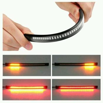 Waterproof Super Bright Flexible Strip Light Decoration 48 LED Signal Universal For Auto Car Motorcycle Truck