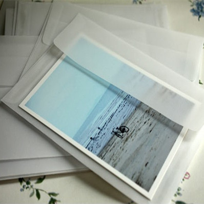 10pcs/lot 175*125mm DIY Translucent White Frosted Blank Sulfuric Acid Paper Envelopes For Invitations And Wedding
