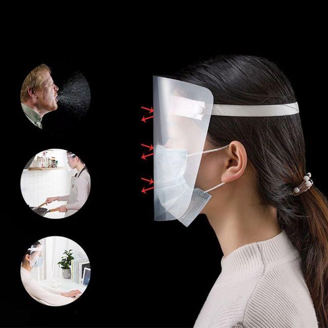 All-Purpose Face Shield Transparent Anti-saliva Anti-spitting Protective Mask 2