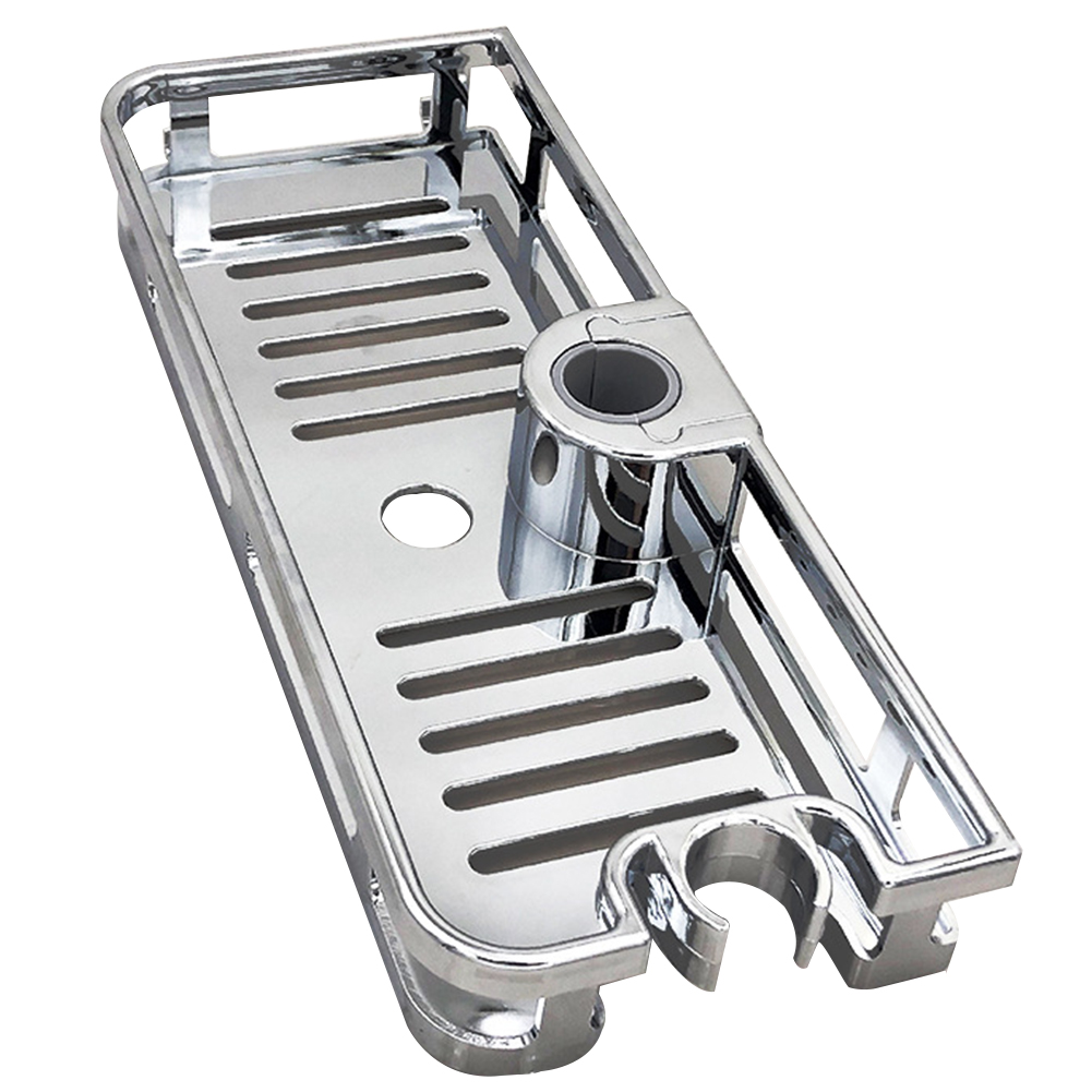 Bathroom Tray Stand Storage Rack Anti Bacteria Organizer Rectangle Lifting Rod No Drilling Shower Shelf Lifting Removable