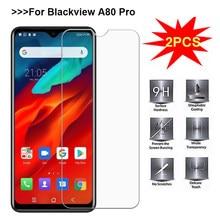 2 pçs sfor vidro blackview a80 pro protetor de tela 9 h 2.5d ultra-fino vidro temperado para blackview a80 pro filme de telefone 6.49