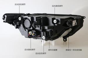 Image 3 - 2pcs 2015 ~ 2017y רכב bupmer ראש אור טאורוס פנס אביזרי רכב LED DRL HID קסנון ערפל עבור מזל שור פנס