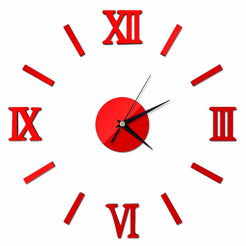 Creative Digital Wall Clock Sticker Watch Modern Design Clock DIY Clocks On Wall Kitchen Clock Living Room Home Decor