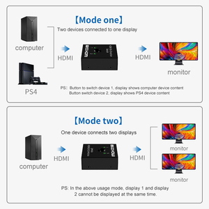 Image 3 - HDMI Splitter 4K 1080P Switch Bi Direction 1x2/2x1 Adapter HDMI Switcher 2 in 1 out for PS4/3 TV Box Nitendo Switch