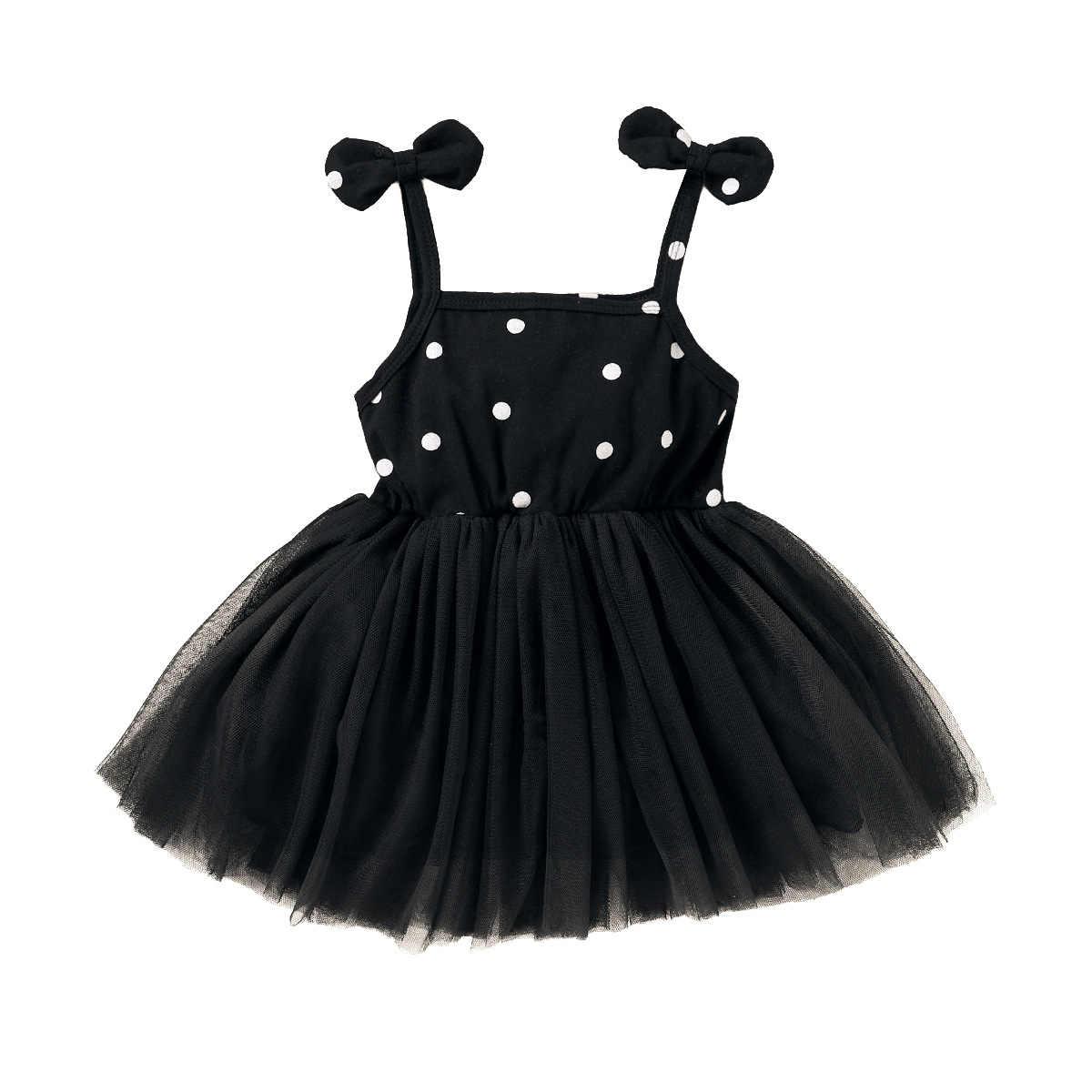 SSMENG Toddler Baby Girls Princess Polka Dot Dress Long Sleeve Mesh Tutu Wedding Party Sundress