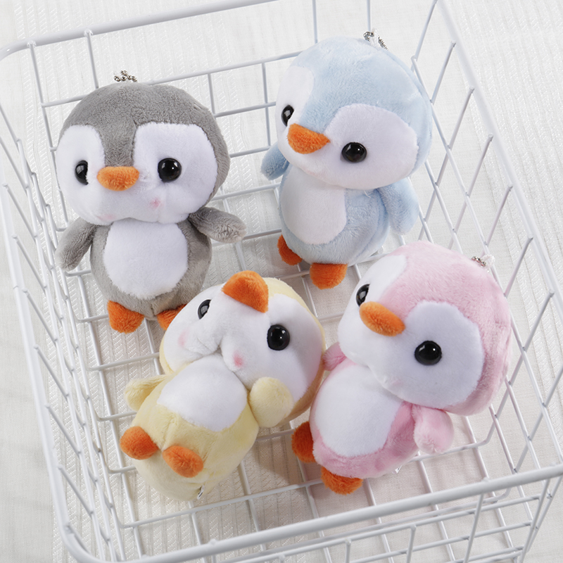 Plush Penguin Keychains Ring Doll Porte Clef Key Cover Cap Pendant Pluff Infant Wind Chime Lovely Baby Pram Infant Soft Toys Kid