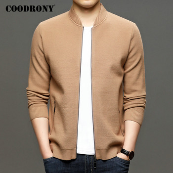 COODRONY Brand Cardigan Men Fashion Casual Streetwear Sweater Coat Men Top Quality Autumn Winter Thick Warm Wool Cardigans C1198 coodrony brand sweater men zipper turtleneck cardigan men clothing autumn winter thick warm 100% merino wool sweater coat p3026