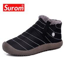 SUROM חיצוני חורף סניקרס גברים החלקה גומי נעליים יומיומיות באיכות גבוהה עמיד למים עליון נמוך זכר נעלי למבוגרים אופנה