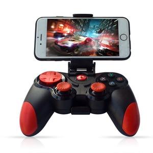 Image 1 - Bezprzewodowy Android Gamepad Joystick bezprzewodowy kontroler do gier Bluetooth kompatybilny Joystick dla Moblie Tablet z funkcją telefonu TV, pudełko uchwyt na