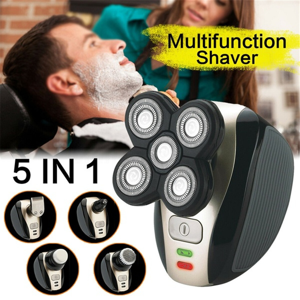 Multi-function Men Washable Rechargeable  5-in-1  Electric Shaving Beard Machine Razor Hair Clipper Rechargeable For Men