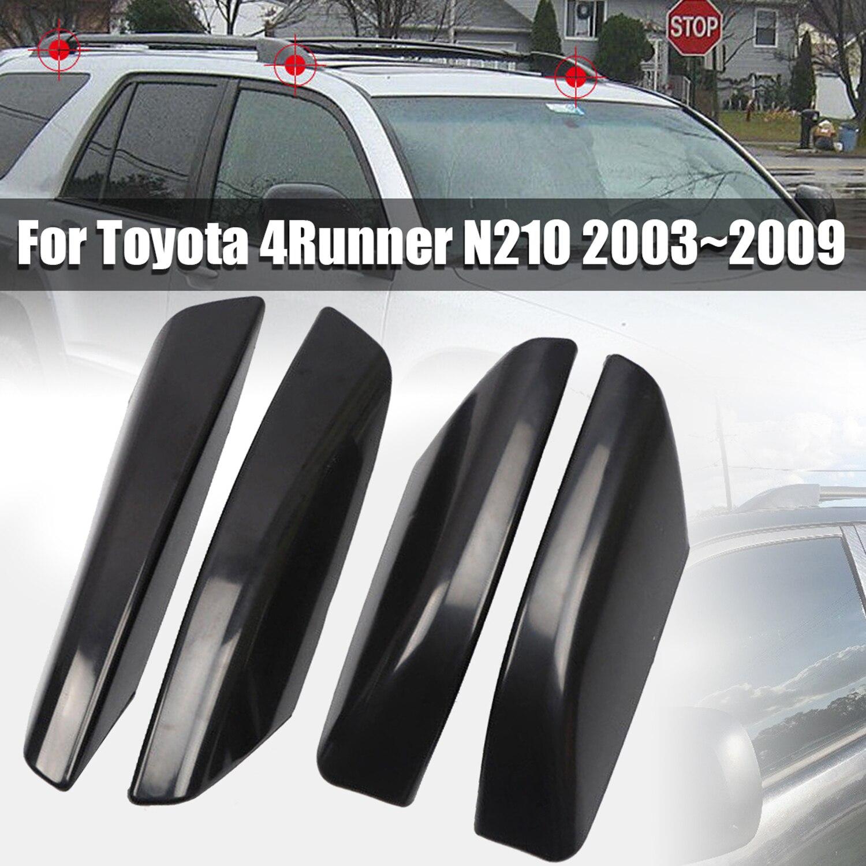 Otomobiller ve Motosikletler'ten Gövde Kapaklar ve Parçaları'de 4 adet ABS araba tavan portbagajı Bar ray ucu koruma kapağı kabuk değiştirme Toyota 4Runner için N210 2003 ~ 2009 title=