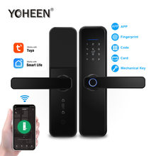 YOHEEN WiFi Tuya Smart Life App Phone Control Intelligent Electronic Digital Door Lock Biometric Fingerprint Smart Lock
