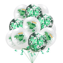 12inch Dinosaur Sequined  Latex Balloons Happy Birthday Party Decoration Helium Balloon Baby Shower