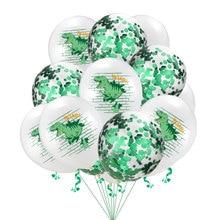 12inch Dinosaur Sequined  Latex Balloons Happy Birthday Party Decoration Helium Balloon Baby Shower Birthday Party Balloons 12inch dinosaur latex balloons brachiosaurus pterodactyl raptor balloon baby shower birthday party decoration helium kids toys