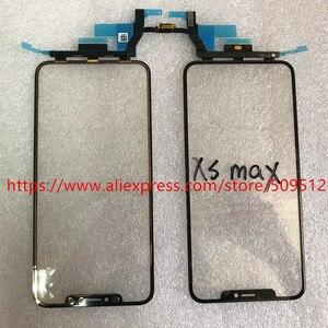 Image 3 - Pannello di vetro esterno anteriore Touch Screen originale 1pcs con cavo flessibile + OCA per iPhone X XS XS Max XR 11 11Pro max parti di ricambio