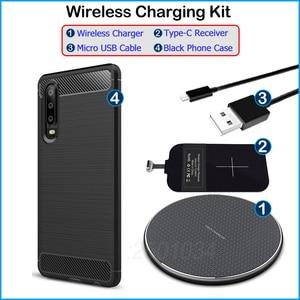 Image 5 - Ricarica Wireless per Huawei P30 Qi caricabatterie Wireless + adattatore per ricevitore USB tipo C custodia morbida in TPU per Huawei P30