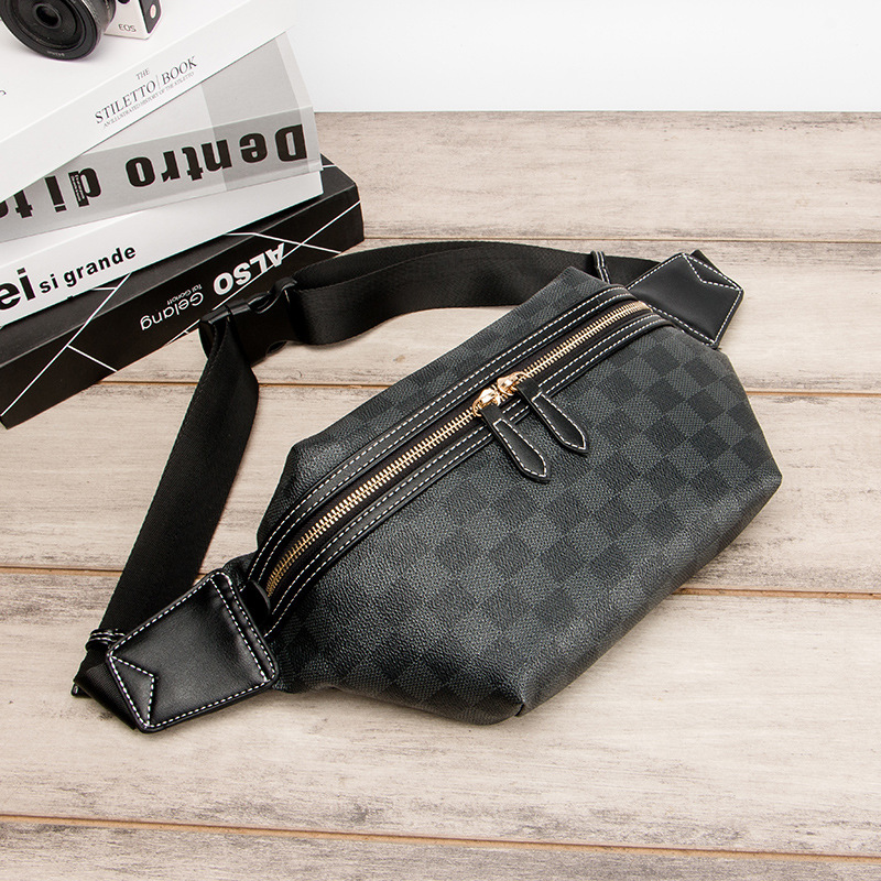 2020 Casual Leather Waist Bag Men Money Phone Fanny Pack Vintage Men's Leather Waist Belt Bag Small Travel Waist Packs Male