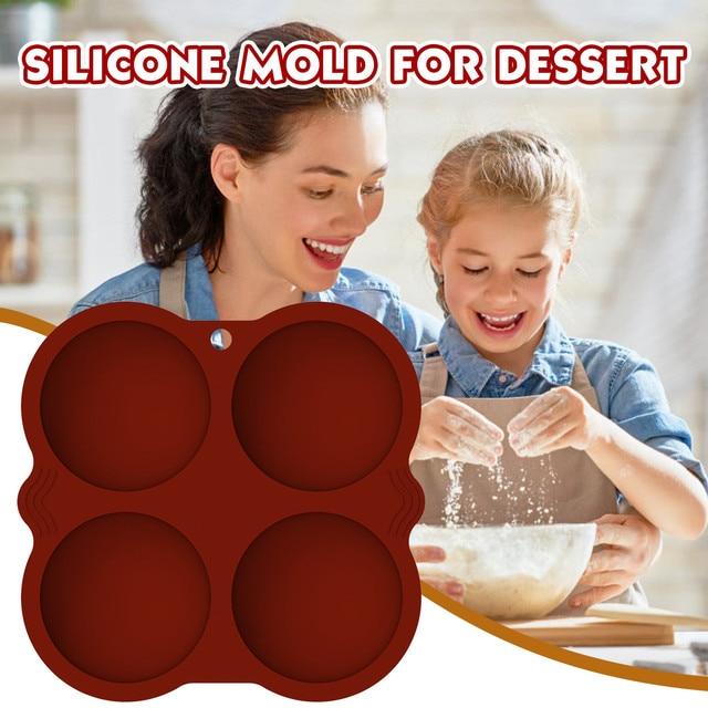 Medium Semi Bol Siliconen Mallen Voor Bommen 1/2Pc Siliconen Mal Bakvorm Voor Maken Chocolate Cake Jelly koepel Mousse # M