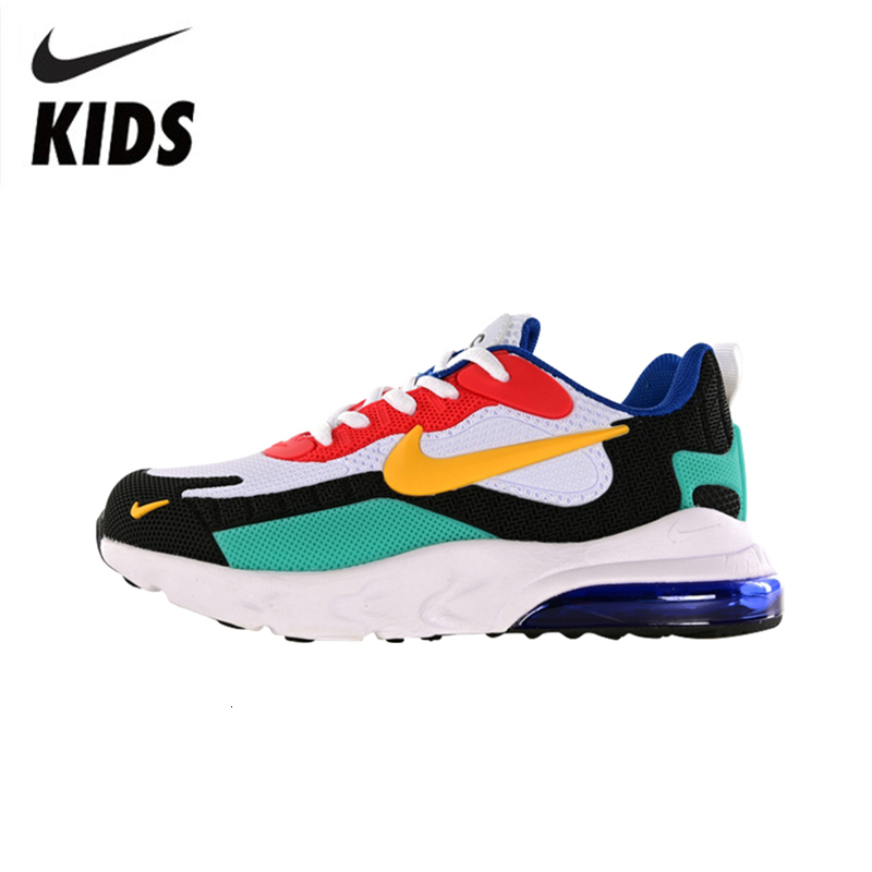 NIKE AIR MAX 270 REACT Original New Arrival Kids Shoes Air Cushion Children Running Shoes Lightweight Sports Sneakers #BQ0103