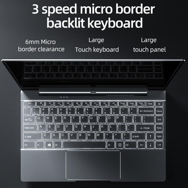 Dere V14S 14.1inch Laptop Intel Celeron N5095 DDR4 12GB RAM 256GB SSD Backlit Keyboard Windows 10 1920x1080 Computer PC Notebook 4