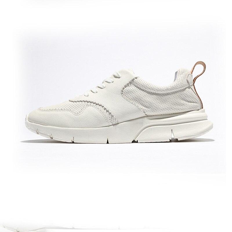 Męskie buty deskorolkowe koreańska wersja jesień prawdziwe skórzane buty w stylu casual mężczyźni trendu czarny buty rekreacyjne męskie skóra bydlęca wiosna jesień w Męskie nieformalne buty od Buty na  Grupa 1