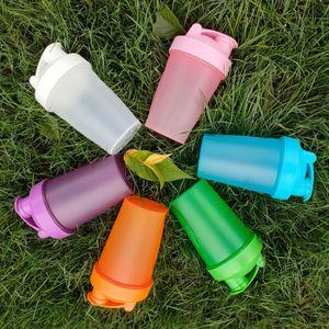 400ml Shaker Sports Water Bottle For Drink Plastic Leak Proof Sport Bottles Protein Shaker Water Bottle with stirring Drinkware