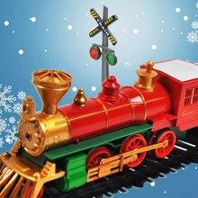 RC электрический поезд Рождественская игрушка модель железнодорожной железной дороги набор дистанционного управления игрушечные поезда электрические рождественские поезда для детей Подарки