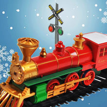 RC Electric Train Christmas Toy Model Train Railway Set Remote Control Trains Toy Electric Christmas Trains For Children Gifts(China)