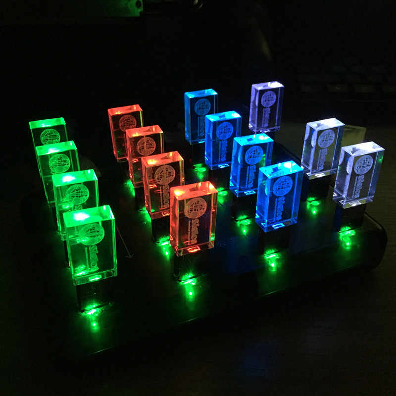 Muhteşem kristal USB bellek kalem sürücü özel logolu USB 2.0 fotoğraf hediyeler anahtar USB 4GB 8GB 16GB 32GB 64GB (10 adet ücretsiz Logo)