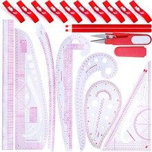 Nonvor retalhos régua curva francesa kit de medição alfaiate kit costura palmilha corte quilting régua ferramentas conjunto