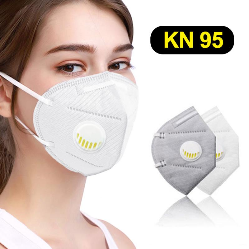 Reusable KN95 N95 Mask With Breathing Valve Face Mask FFP2 FFP3 Protection Breathable Dustproof Antifog Protective Face Mask