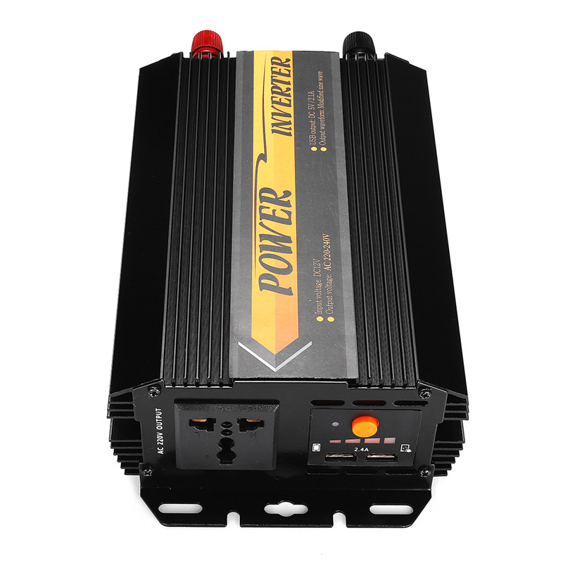 Dual USB Max 6000 Watts 3000W Power Inverter DC 12 V to AC 220 Volt Car Adapter Charge Converter Modified Sine Wave Transformer 25