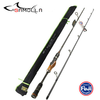 High Quality Fishing Rod Wood Handle Spinning Casting Rod High Carbon Lure Fishing Rods Vara De Pesca Peche Olta Canna Da Pesca