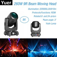 Dj Equipment 260W 9R  Moving Head Light Lyre Beam DMX Stage Effect 8 + 24 Facet Prism Wedding Music