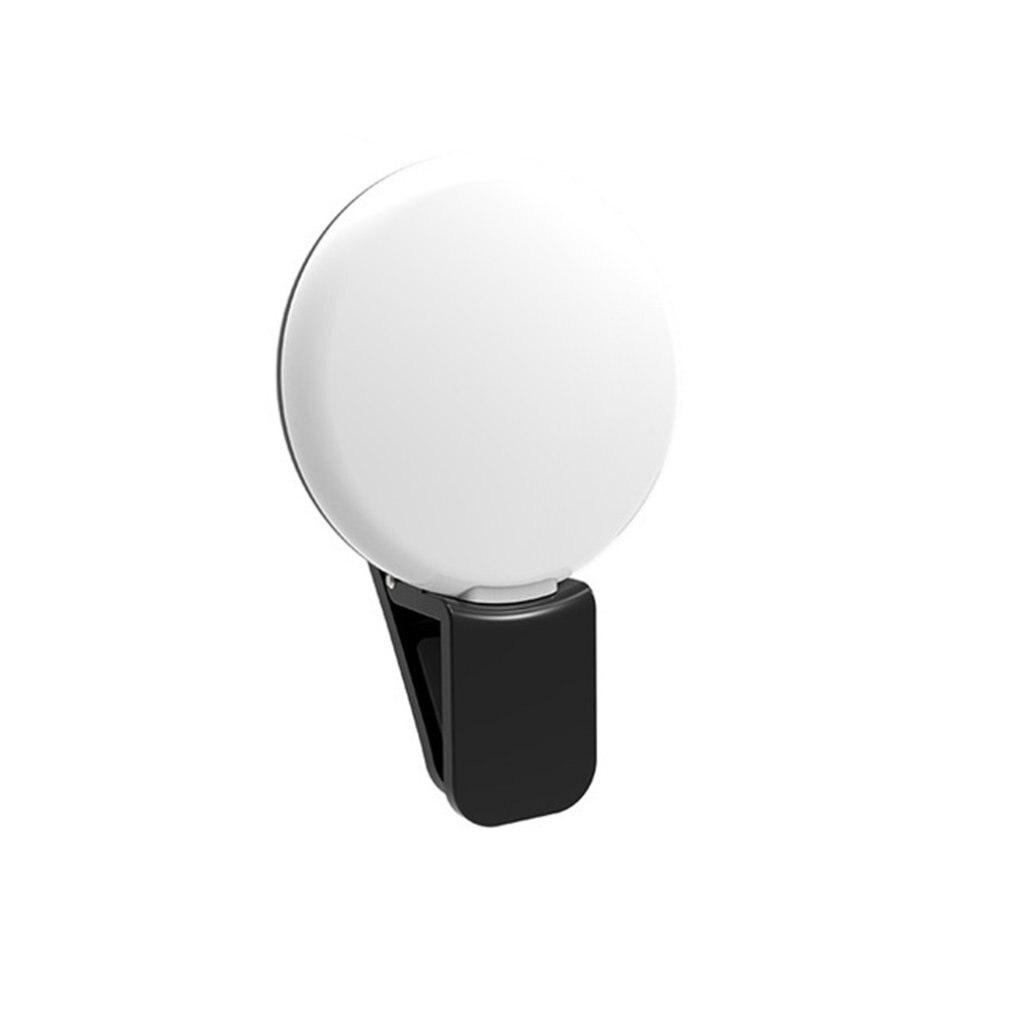 Selfie LED Ring Flash Light Portable Phone Selfie Lamp Luminous Clip Lamp Camera Photography Video Spotlight