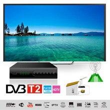 DVB-C Fernsehen Box Combo TV Tuner DVB T2 Digital TV Receiver H.264 Decoder Set Top Box EU Stecker