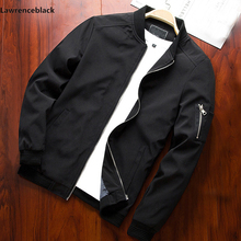 Chaqueta Bomber de manga larga para hombre, chaqueta cortavientos con cremallera, prendas de vestir, 6580
