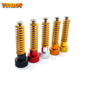 3d Printer Parts M3*40 Screw& Aluminum alloy Leveling Spring Kit For Heated Bed Cr10 Ender-3 Um2 Prusa I3 Mk2/mk3 Hotbed mellow all metal nf crazy hotend v6 copper nozzle for ender 3 cr10 prusa i3 mk3s alfawise titan bmg extruder 3d printer parts