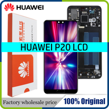 """100% Original 5.8"""" LCD With Frame For Huawei P20 EML L09 EML L22 EML L29 LCD Display Touch Screen Digitizer Assembly Replace"""