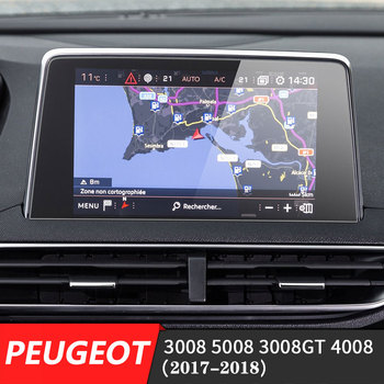 233x133mm Car Navigation GPS Screen Toughened Glass Steel Protective Film For Peugeot 3008 5008 3008GT 4008 2017-2018 image