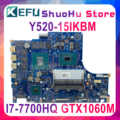 DY520 NM-B391 เมนบอร์ดสำหรับ Lenovo Y520-15IKBM แล็ปท็อป NM-B391 i7-7700HQ GTX1060TI Original Test Mainboard