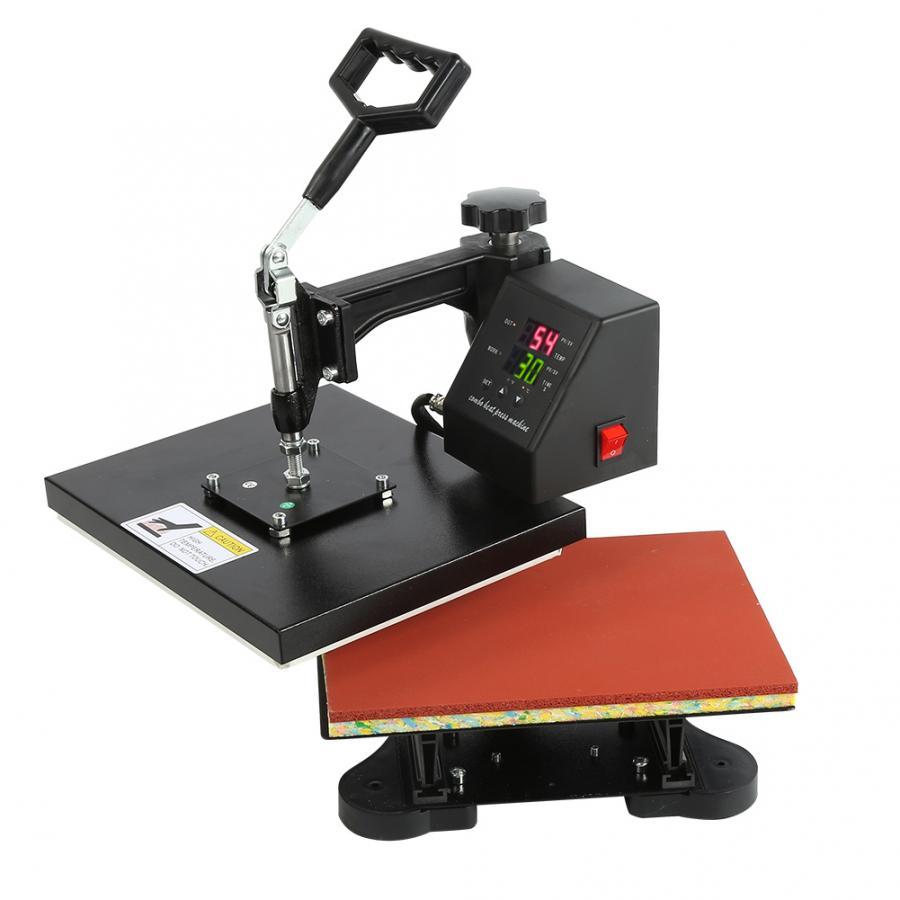 230V Dual-Display Digital Manual T-shirt Heat Press Machine Sublimation Printer