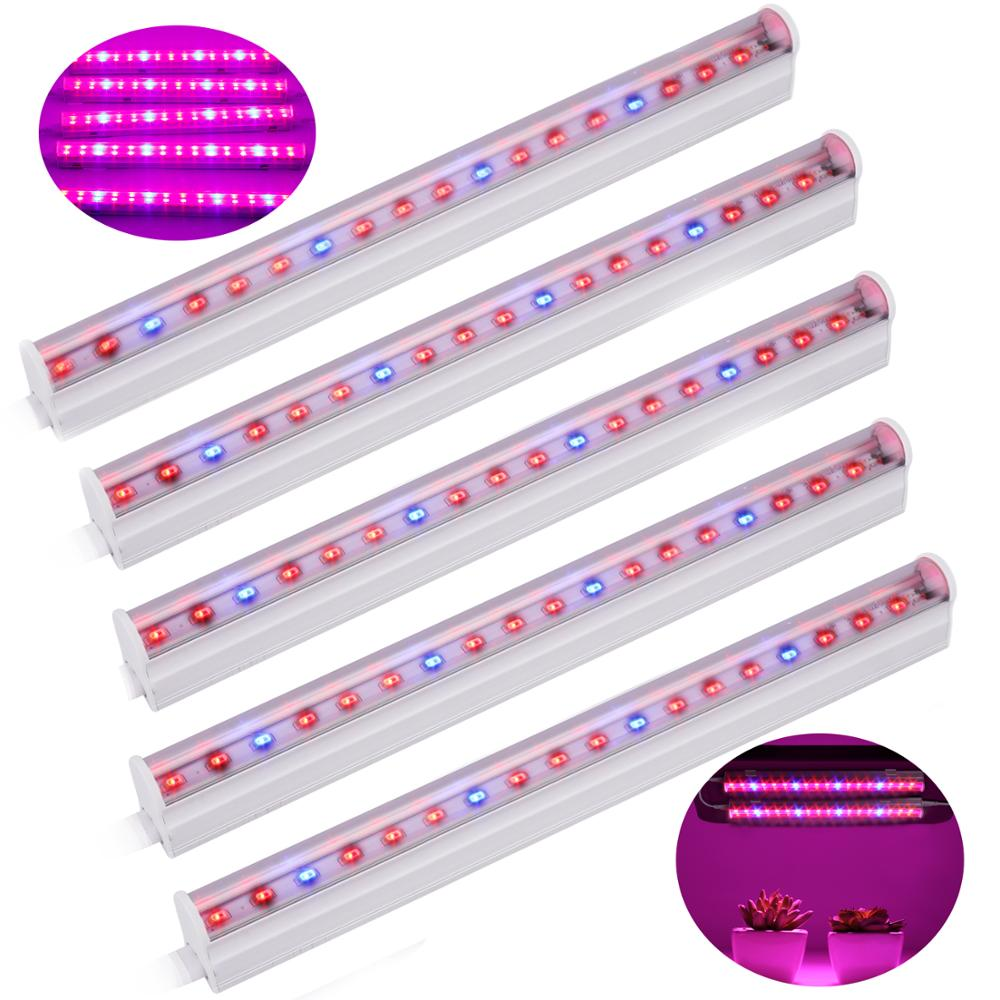 Phyto lamp <font><b>LED</b></font> Grow Light T5 Tube Full Spectrum 5730 SMD Indoor Flower Plant Growth <font><b>Bar</b></font> Light for Greenhouse Hydroponic Growing image