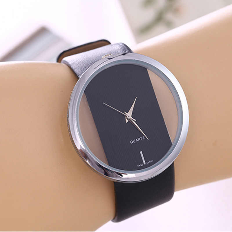 1 Pcs Top Kulit Jam Tangan QUARTZ Lady Jam Tangan Wanita Mewah Antik Bergaya Bulat Dress Watch Relogio Feminino Montre Femme