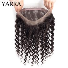 Deep Wave 360 Frontal Closure Free Part Peruvian Human Hair Weave Deep Wave 360 Lace Frontal Pre Plucked Remy Hair Yarra