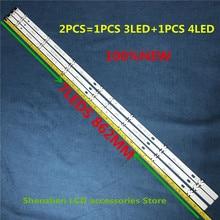 6PSC=3PCS 3LED+3PCS 4LED 7leds For LG 43 inch TV 43LX300C CA LF51 FHD A HC430DUE COB 43LH51_FHD A SSC_43inch_FHD 862mm 100%NEW